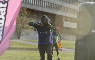 Combat archery tag i Stockholm Gärdet